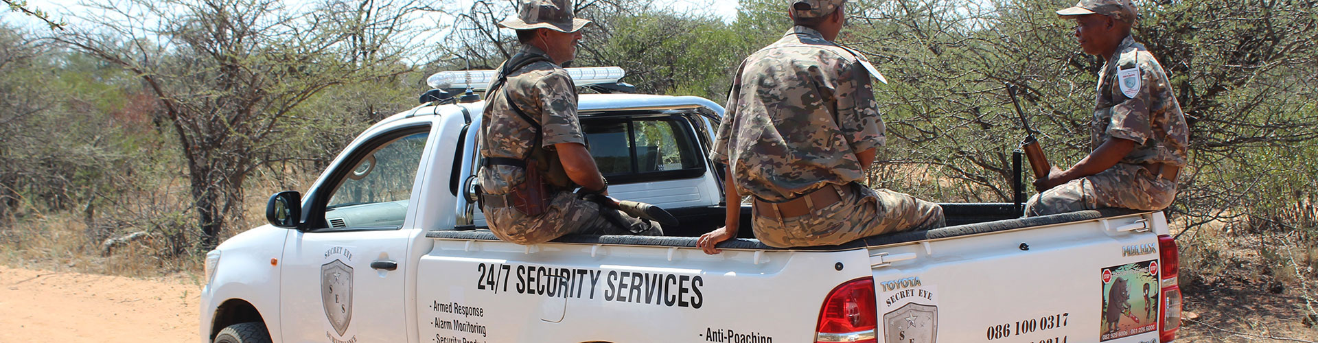 Anti-Poachers on Vehicle